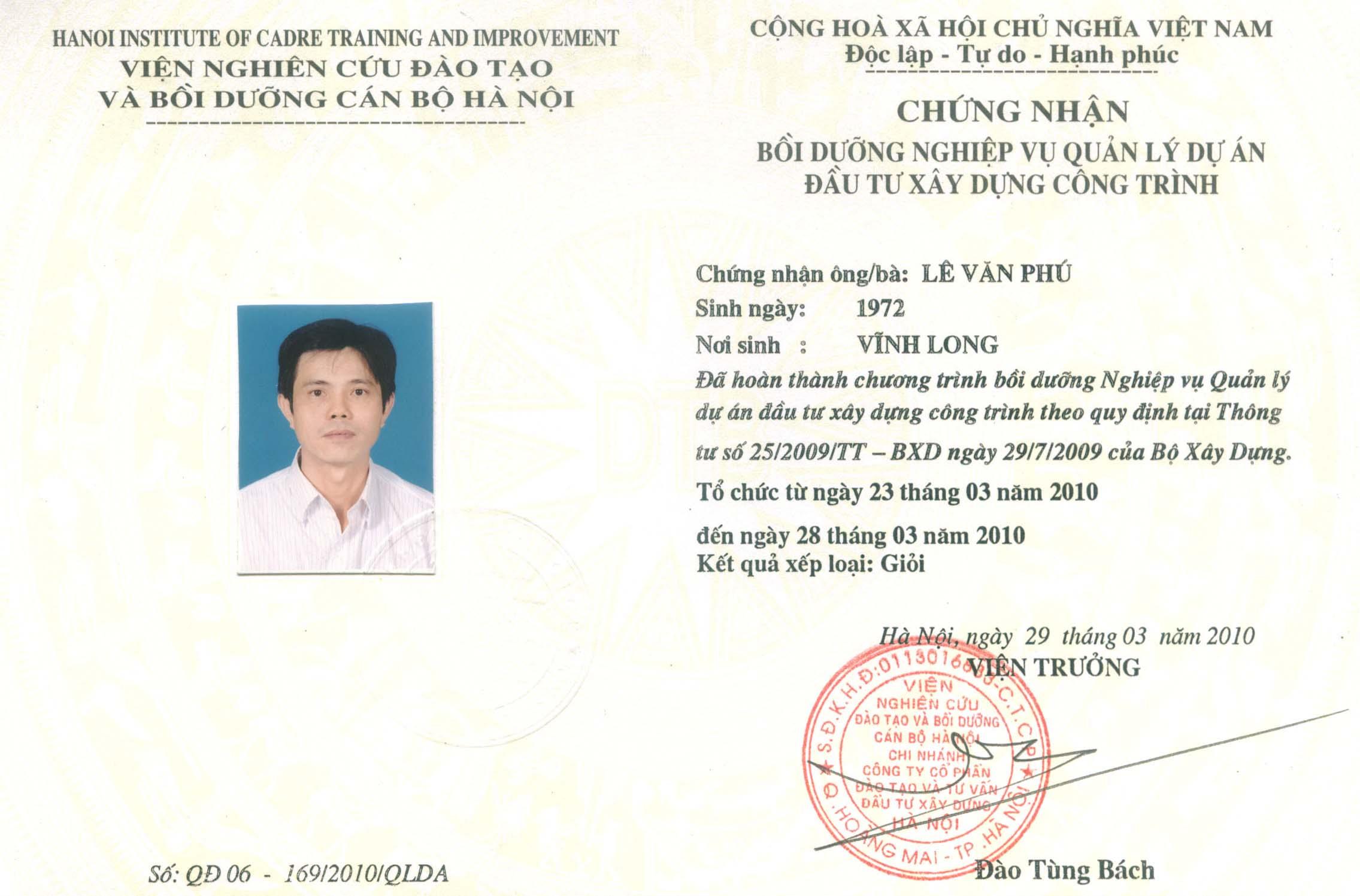 Khai giảng lớp học quản lý dự án, Cấp chứng chỉ quản lý dự án 0982640468